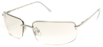 Angle of Flier #1196 in Silver Frame with Clear Lenses, Women's and Men's Square Sunglasses