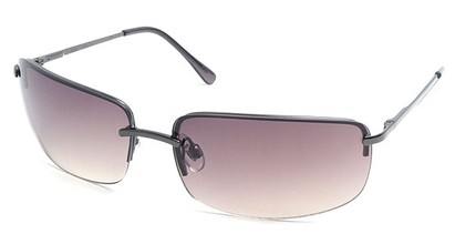 Angle of Flier #1196 in Grey Frame with Smoke Lenses, Women's and Men's Square Sunglasses