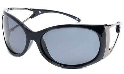 Angle of SW Polarized Style #9817 in Black Frame, Women's and Men's
