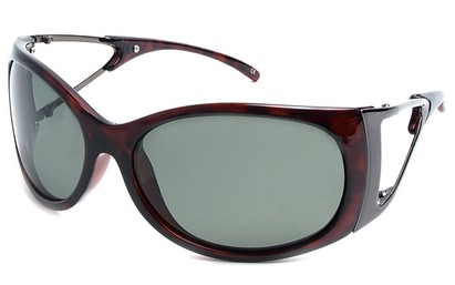 Angle of SW Polarized Style #9817 in Brown Frame, Women's and Men's