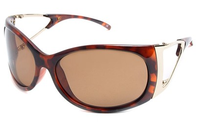 Angle of SW Polarized Style #9817 in Tortoise Frame, Women's and Men's