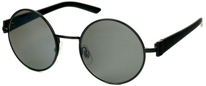Angle of SW Round Style #1922 in Black Frame, Women's and Men's