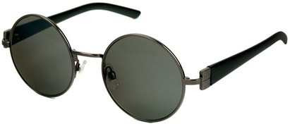 Angle of SW Round Style #1922 in Grey and Black Frame, Women's and Men's