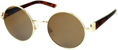 Angle of SW Round Style #1922 in Gold and Tortoise Frame, Women's and Men's