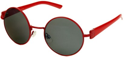 Angle of SW Round Style #1922 in Red Frame, Women's and Men's
