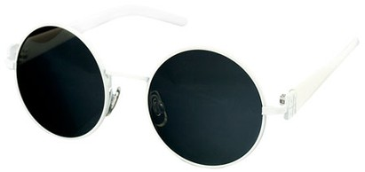 Angle of SW Round Style #1922 in White Frame, Women's and Men's