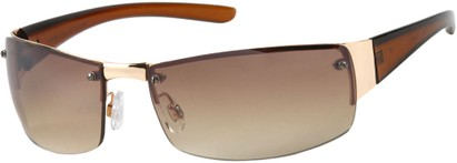 Angle of Bombay #9775 in Gold Frame, Women's and Men's Square Sunglasses