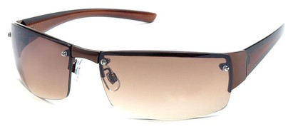 Angle of Bombay #9775 in Bronze Frame, Women's and Men's Square Sunglasses