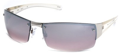 Angle of Bombay #9775 in Silver Frame with Smoke Lenses, Women's and Men's Square Sunglasses