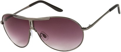 Angle of SW Aviator Style #500 in Grey Frame with Rose Lenses, Women's and Men's