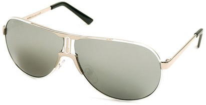 Angle of SW Celebrity Aviator Style #8420 in Silver and White Frame with Mirroerd Lenses, Women's and Men's
