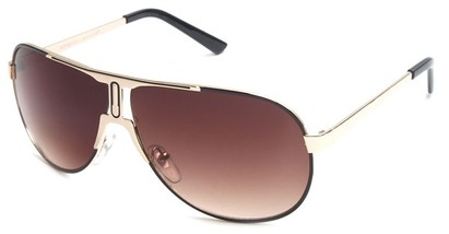 Angle of SW Celebrity Aviator Style #8420 in Gold and Brown Frame with Amber Lenses, Women's and Men's