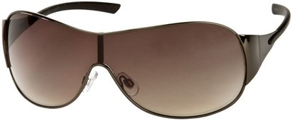 Angle of SW Shield Style #1344 in Grey Frame with Grey Lenses, Women's and Men's