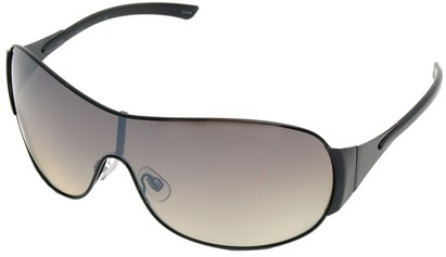 Angle of SW Shield Style #1344 in Black Frame, Women's and Men's