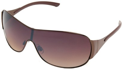 Angle of SW Shield Style #1344 in Bronze Frame, Women's and Men's