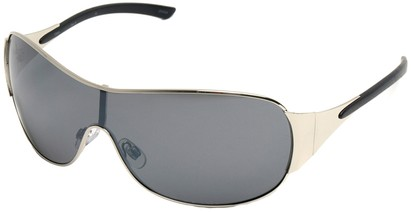 Angle of SW Shield Style #1344 in Silver Frame, Women's and Men's