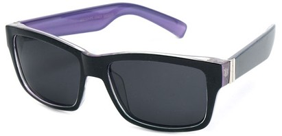 Angle of Tenby #13494 in Black and Purple Frame, Women's and Men's Square Sunglasses