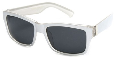 Angle of Tenby #13494 in Silver Frame, Women's and Men's Square Sunglasses