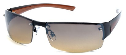 Angle of Bombay #9775 in Black Frame, Women's and Men's Square Sunglasses