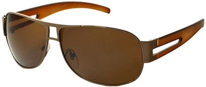 Angle of SW Aviator Style #8835 in Bronze/Brown Frame with Amber Lenses, Women's and Men's