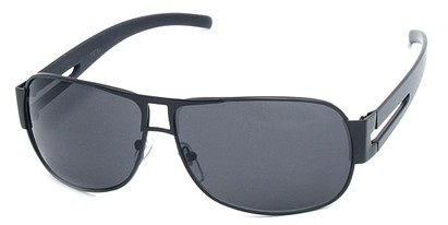 Angle of SW Aviator Style #8835 in Black Frame, Women's and Men's