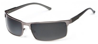 Angle of Dover #2040 in Glossy Grey Frame with Grey Lenses, Women's and Men's Square Sunglasses
