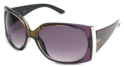 Angle of SW Animal Print Style #29 in Purple and Brown Zebra Two-Tone Frame, Women's and Men's