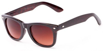 Angle of Turlough #7404 in Tortoise Frame, Women's and Men's Retro Square Sunglasses