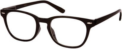 Angle of SW Clear Retro Style #1890 in Black Frame, Women's and Men's Retro Square Sunglasses