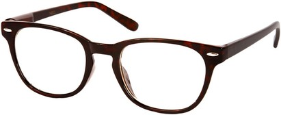Angle of SW Clear Retro Style #1890 in Brown Tortoise Frame, Women's and Men's Retro Square Sunglasses