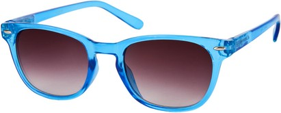 Angle of Cariboos #1981 in Blue Frame, Women's and Men's Retro Square Sunglasses