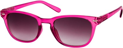 Angle of Cariboos #1981 in Pink Frame, Women's and Men's Retro Square Sunglasses