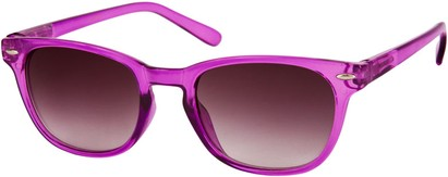 Angle of Cariboos #1981 in Purple Frame, Women's and Men's Retro Square Sunglasses