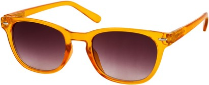 Angle of Cariboos #1981 in Yellow Frame, Women's and Men's Retro Square Sunglasses