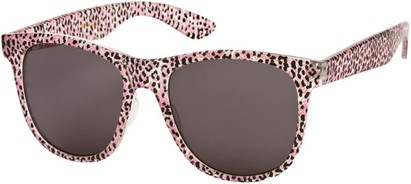 Angle of SW Animal Print Retro Style #1315 in Pink/Clear Leopard Frame, Women's and Men's