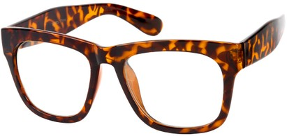Angle of SW Clear Nerd Style #1236 in Brown Tortoise, Women's and Men's