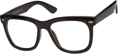 Angle of SW Nerd Style #9189 in Glossy Black Frame, Women's and Men's