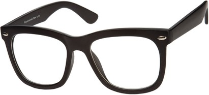 Angle of SW Nerd Style #9189 in Matte Black Frame, Women's and Men's