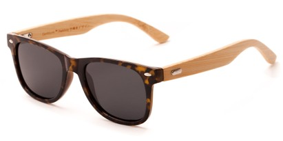 Angle of Mohawk #1462 in Yellow Tortoise Frame with Grey Lenses, Women's and Men's Retro Square Sunglasses