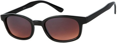 Angle of Wyoming #1537 in Black Frame with Driving Lenses, Women's and Men's Retro Square Sunglasses