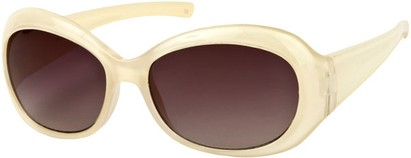 Angle of SW Retro Style #211 in Pearl Beige Frame with Smoke Lenses, Women's and Men's