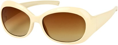 Angle of SW Retro Style #211 in Beige Frame with Amber Lenses, Women's and Men's