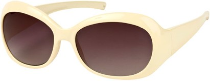 Angle of SW Retro Style #211 in Beige Frame with Smoke Lenses, Women's and Men's