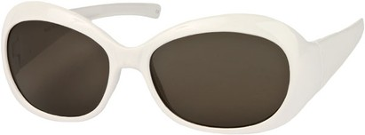 Angle of SW Retro Style #211 in White Frame with Grey Lenses, Women's and Men's
