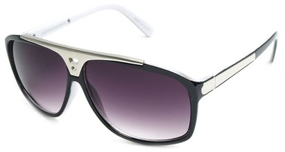 Angle of SW Retro Style #15020 in Black with White, Women's and Men's