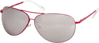 Angle of SW Mirrored Square Aviator Style #1999 in Hot Pink Frame, Women's and Men's