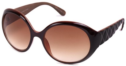 Angle of SW Round Style #1093 in Brown Frame, Women's and Men's