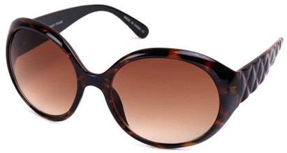 Angle of SW Round Style #1093 in Brown Tortoise Frame, Women's and Men's