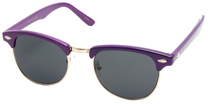 Angle of Midway #1603 in Purple Frame, Women's and Men's Browline Sunglasses