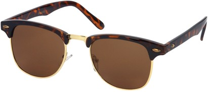 Angle of SW Fashion Style #1604 in Tortoise Frame with Amber Lenses, Women's and Men's